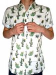 Cactus - Short Sleeve Retro Indie Shirt - White
